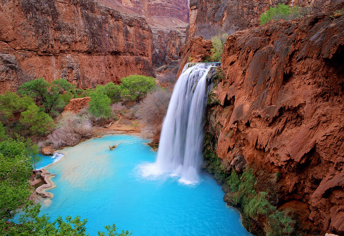 Havasu falls are in the grand canyon, navajo indians known as