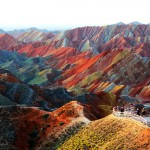 Zhangye Danxia Geopark in China.