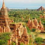 The temples and pagodas of Bagan, in Burma