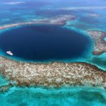 The Great Blue Hole, in Belize