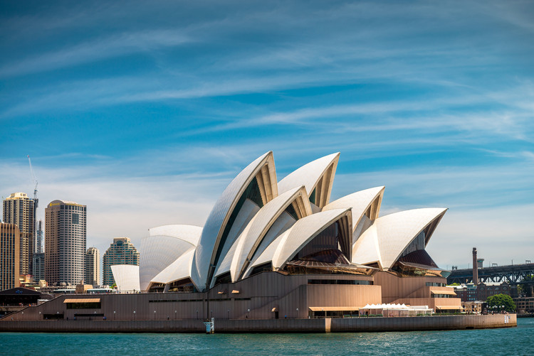 Sydney Opera House, Australia in a building