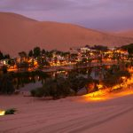 Huacachina Lagoon, an oasis in the desert in Peru
