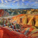 The beautiful colorful mountains of Zhangye Danxia