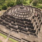 The Borobudur in Indonesia, the largest Buddhist temple in the world.
