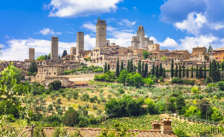 San Gimignano, the village of medieval towers in Tuscany, Italy